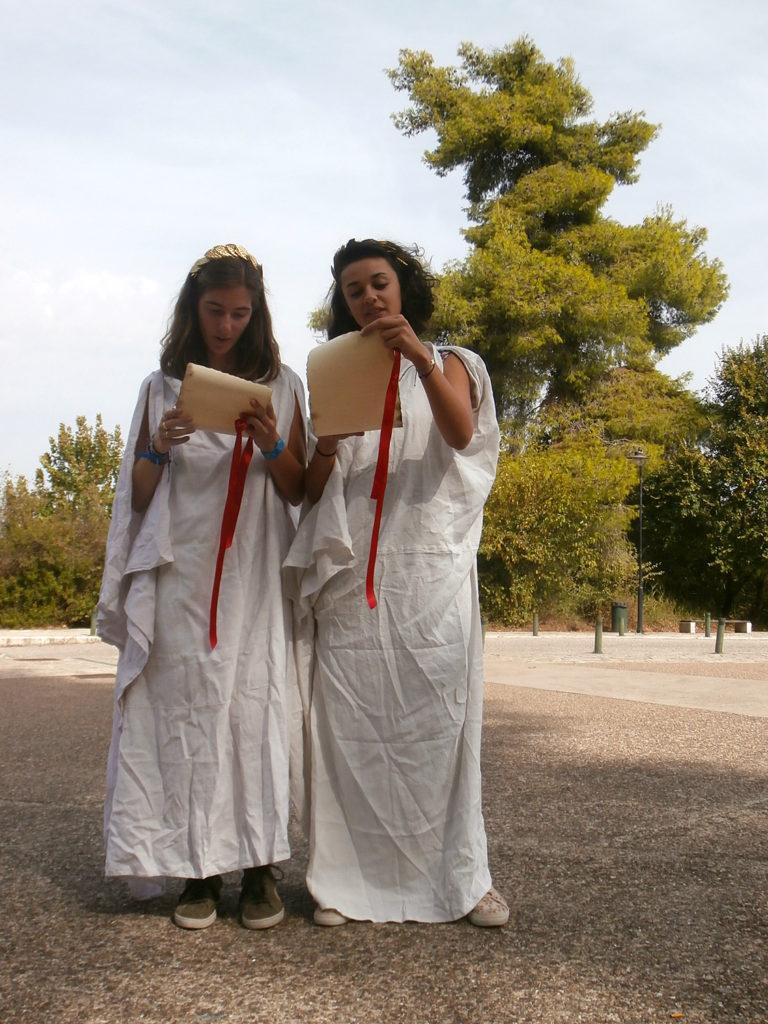 Les élèves hellénistes en Grèce