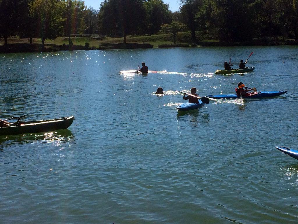 Kayak au lac de Soues