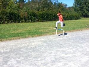 Athlétisme au lac de Soues