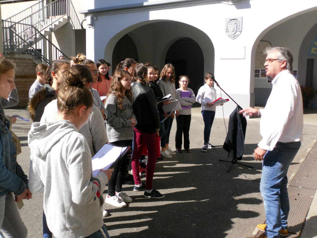 La chorale aux portes ouvertes de l'Institution Jeanne d'Arc